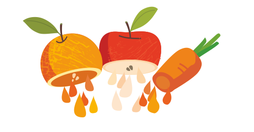 Βιολογικός Χυμός Πορτοκάλι, Μήλο & Καρότο - Χυμοποιούμε