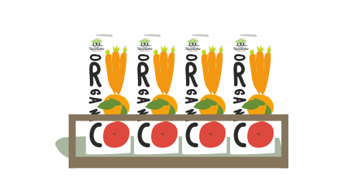Βιολογικός Χυμός Πορτοκάλι, Μήλο & Καρότο - Εξασφαλίζουμε