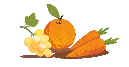 Σταφύλι, Πορτοκάλι & Καρότο plus - Επιλέγουμε