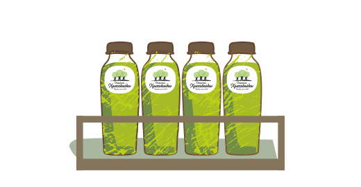 Pressed Kiwi & Green Apple Plus Juice - We ensure