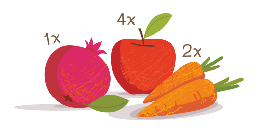 Στυμμένος χυμός Ρόδι, Μήλο & Καρότο - Επιλέγουμε