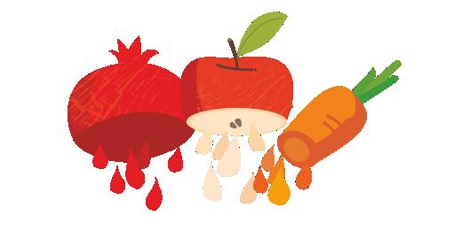 Στυμμένος χυμός Ρόδι, Μήλο & Καρότο - Χυμοποιούμε