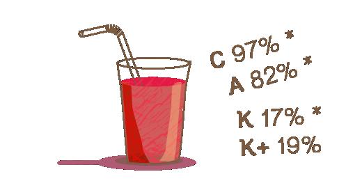 Στυμμένος χυμός Ρόδι, Μήλο & Καρότο - Διατηρούμε