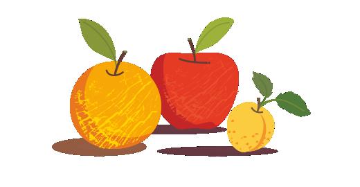 Βερίκοκο, Μήλο & Πορτοκάλι με βιταμίνες A+C+E - Επιλέγουμε