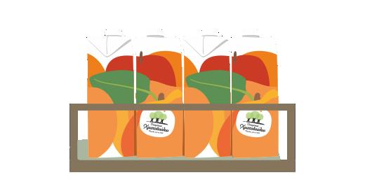 Βερίκοκο, Μήλο & Πορτοκάλι με βιταμίνες A+C+E - Εξασφαλίζουμε