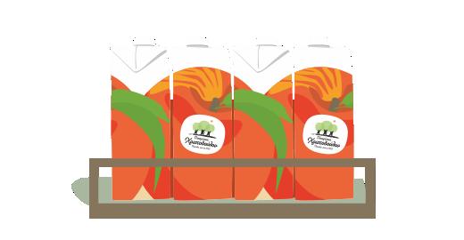 Vitamin Juice Peach - We ensure