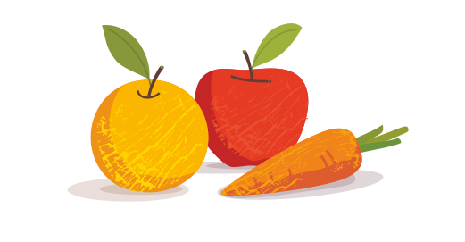 Φυσικός χυμός Μήλο, Πορτοκάλι, Καρότο - Επιλέγουμε