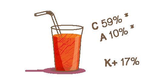 Φυσικός χυμός Μήλο, Πορτοκάλι, Καρότο - Διατηρούμε
