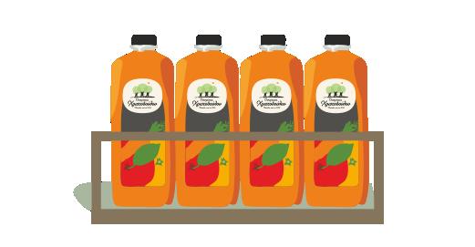Φυσικός χυμός Μήλο, Πορτοκάλι, Καρότο 2 λίτρων - Εξασφαλίζουμε