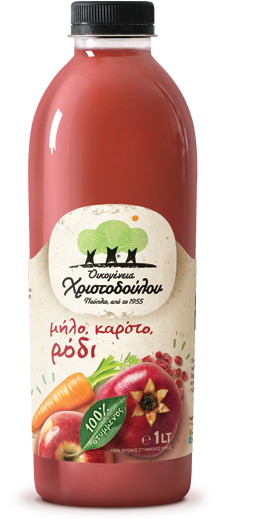 Pure pressed Pomegranate, Apple & Carrot juice