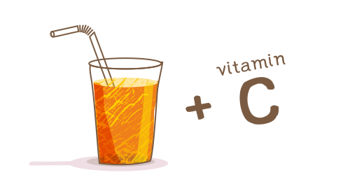 100% Vitamin Orange Juice  - We boost