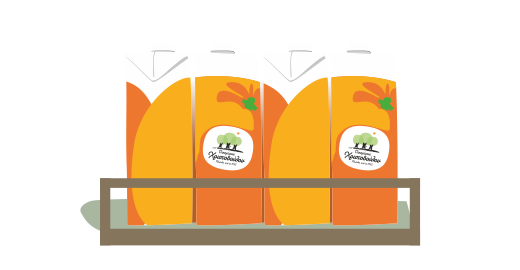 100% Vitamin Orange Juice  - We ensure